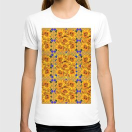 GOLDEN  YELLOW SUNFLOWERS GOLD & PURPLE PATTERN T-shirt