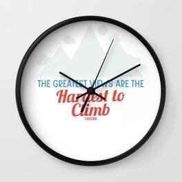 Climbing hiking bouldering Alps Wall Clock