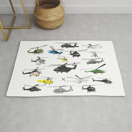 Multiple Helicopters Rug