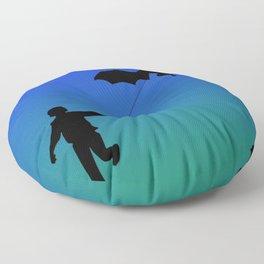 Magical Dragon Dragon (blue green) Floor Pillow