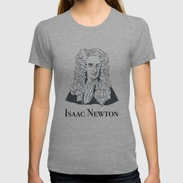 Illustration of Isaac Newton T-shirt