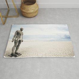 Crosby Beach Man  Rug