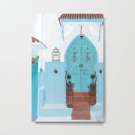 Chefchaouen Moroccan Blue City Metal Print