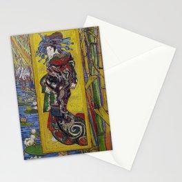 """Vincent van Gogh, """" Courtesan- after Eisen """" Stationery Cards"""