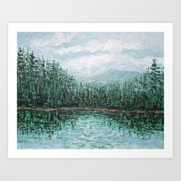Trillium Lake, Oregon Art Print