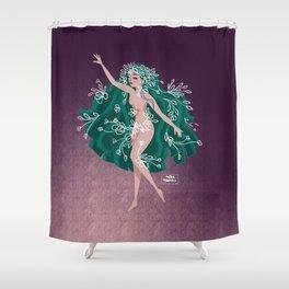 Felicity Flower Girl Shower Curtain