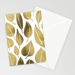 Cascading Leaves – Gold Palette Stationery Cards