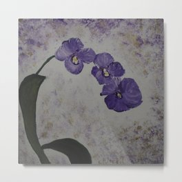 Orchids on a Stem Metal Print