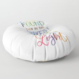Happiness Can Be Found Floor Pillow