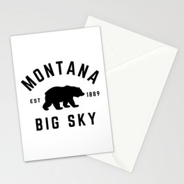 Montana Grizzly Bear Big Sky Country Established 1889 Vintage Stationery Cards