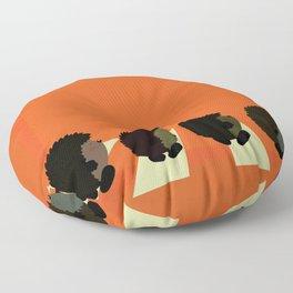 Hedgie road Floor Pillow
