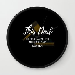 This Dad Is The World's Number One Lawyer Wall Clock