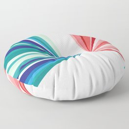 Colorful Geometric Pattern Floor Pillow
