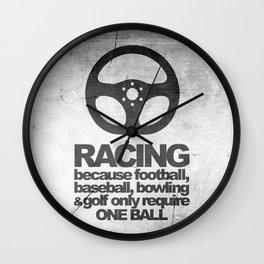 Racing Quotes Wall Clock