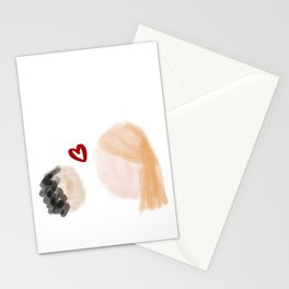 Biracial Mom and Daughter Stationery Cards