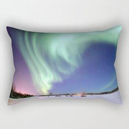 Northern Lights of Alaska Photograph Rectangular Pillow