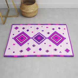 Purple Heritage Traditional Boho Moroccan Style Rug