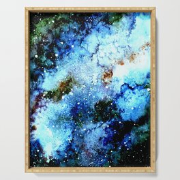 Cool Blue Galaxy Serving Tray