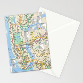 nyc metro city subway map Stationery Cards