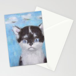 Kitten with Three Clouds Stationery Cards