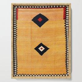 Qashqa'i Fars Southwest Persian Kilim Print Serving Tray