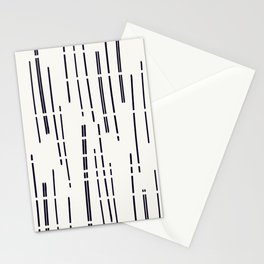 Abstract broken lines - black on off white Stationery Cards