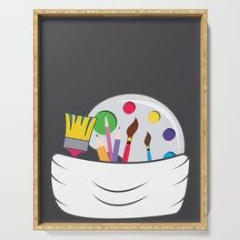 Bumbag artist pen brush palette gift Serving Tray