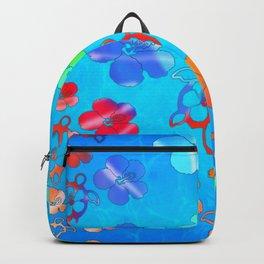 Tie Dye Honu And Hibiscus Backpack