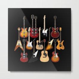Too Many Guitars! Metal Print