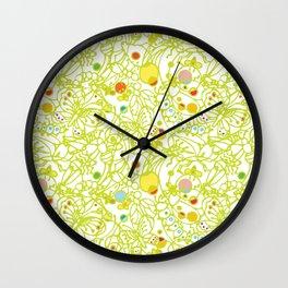 Bugs - Light Green  Wall Clock