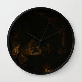 Gerard Dou - The Night School Wall Clock