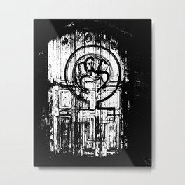 feminist symbol in white, black and white Metal Print