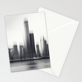 Rotterdam Skyline Abstraction Stationery Cards