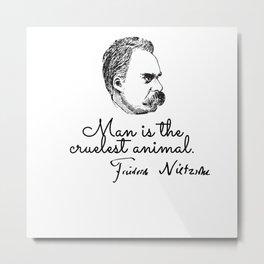 Nietzsche philosopher Metal Print