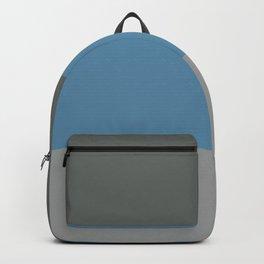 BEACH THEME TRIPLE THICK STRIPES - DARK GREY - BLUE GREY - LIGHT GREY  Backpack