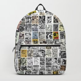 1980's Vintage Punk Flyers Backpack