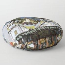 Las Palmas Cafe Floor Pillow
