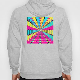 Geometric abstract cubist art three-dimensional colorful cubes in a future looking square pattern Hoody