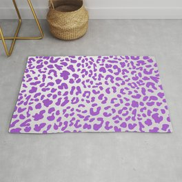 Purple Leopard Print Rug