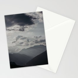 Faded mountains and dramatic sky Stationery Cards
