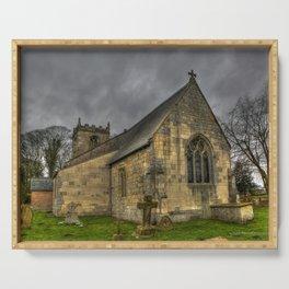 12th Century Church, England Serving Tray