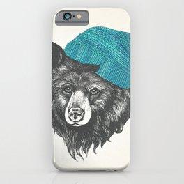 bear in blue iPhone Case