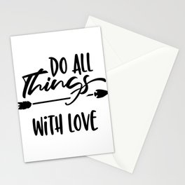 Do All Things With Love Thanksgiving Stationery Cards