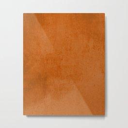 Orange rustic Metal Print