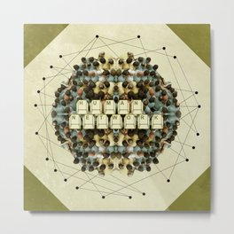 Human Network Metal Print