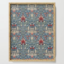 Snakeshead William Morris Textile Pattern Serving Tray