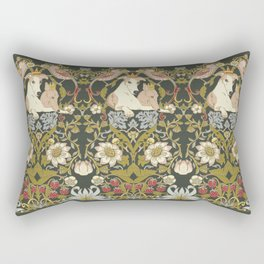 Whippets and Strawberry Thieves Rectangular Pillow