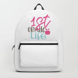 1St Grade Design; - Funny School humor - Cute typography - Lovely kid quotes illustration Backpack