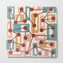Mid Century Modern Atomic Nucleus Pattern 432 Metal Print
