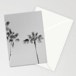 Black Palms // Monotone Gray Beach Photography Vintage Palm Tree Surfer Vibes Home Decor Stationery Cards
